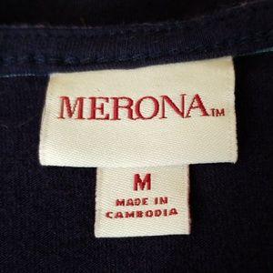 Merona Dresses - Merona Navy Blue/Multicolor stripes dress